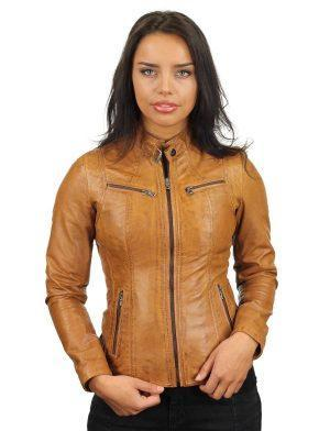 ladies-leather-jackets-cognac-round-collar-315-model2