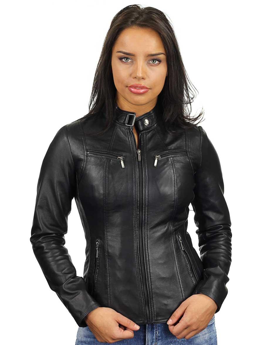 leren-dames-jassen-zwart-ronde-kraag-315-model3