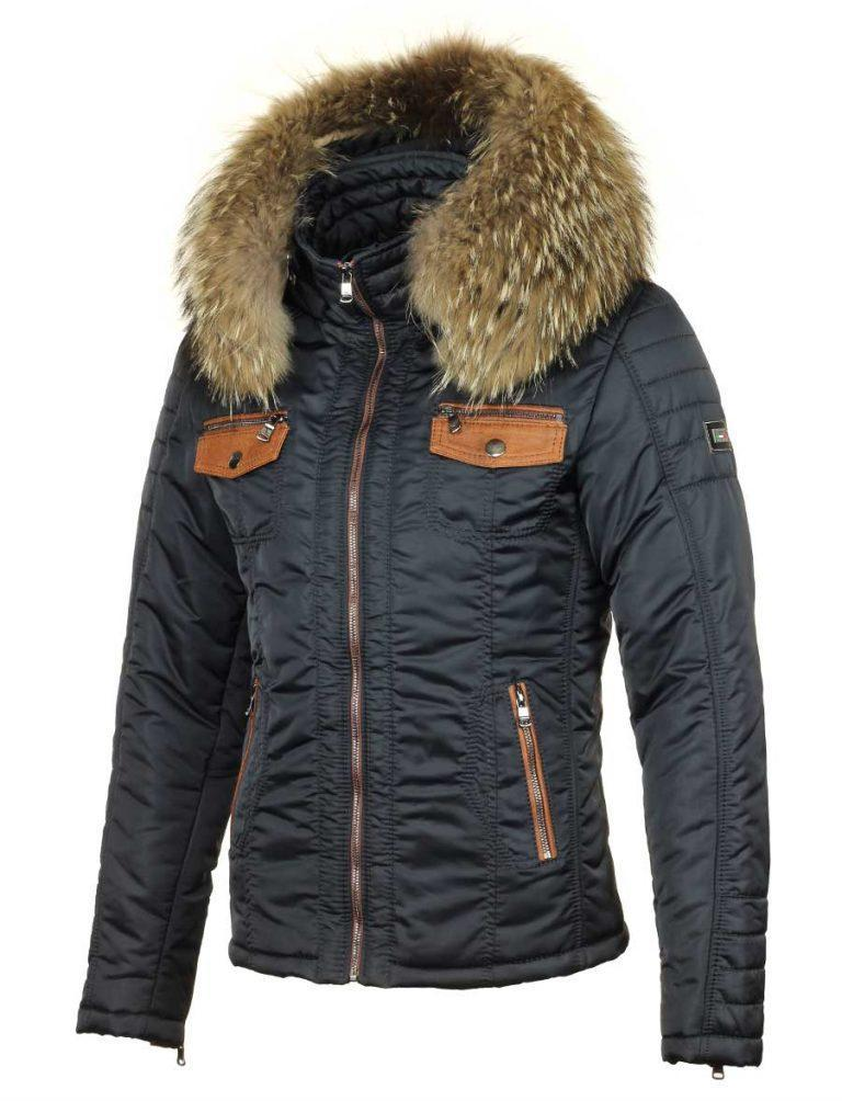 Winterjas Xs Heren.Versano Men S Winter Jacket With Fur Collar Roger Blue