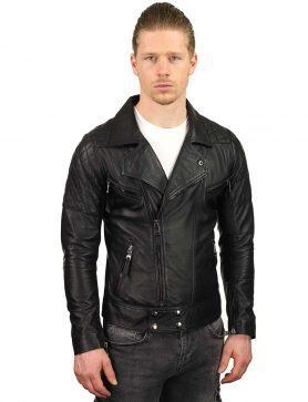 Biker jas heren zwart TR40 Versano