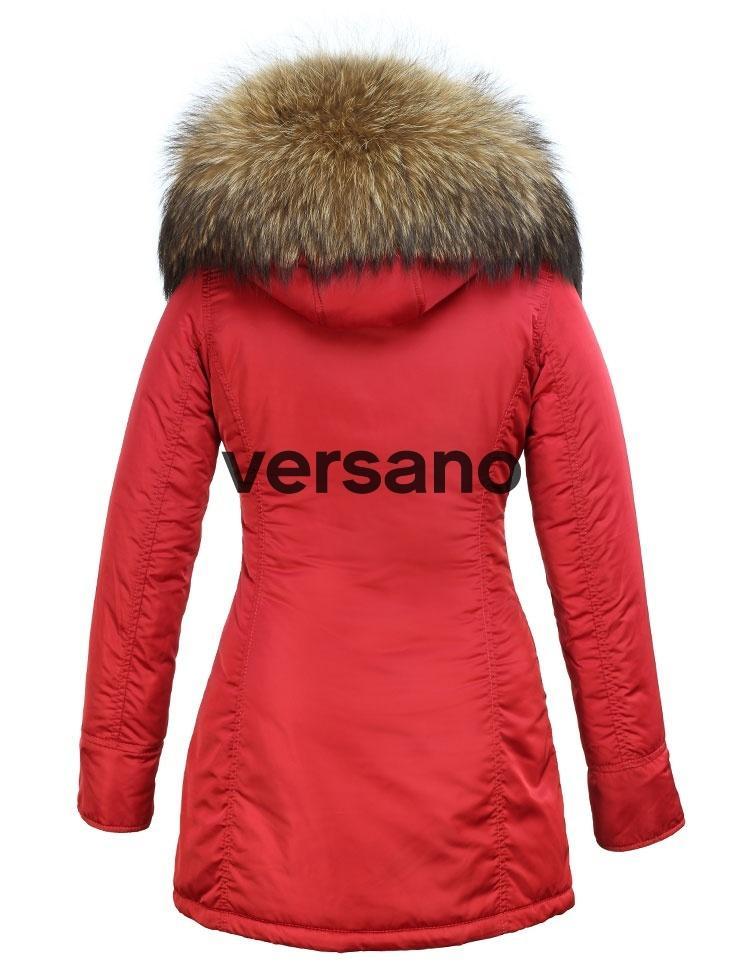 rode winterjas dames