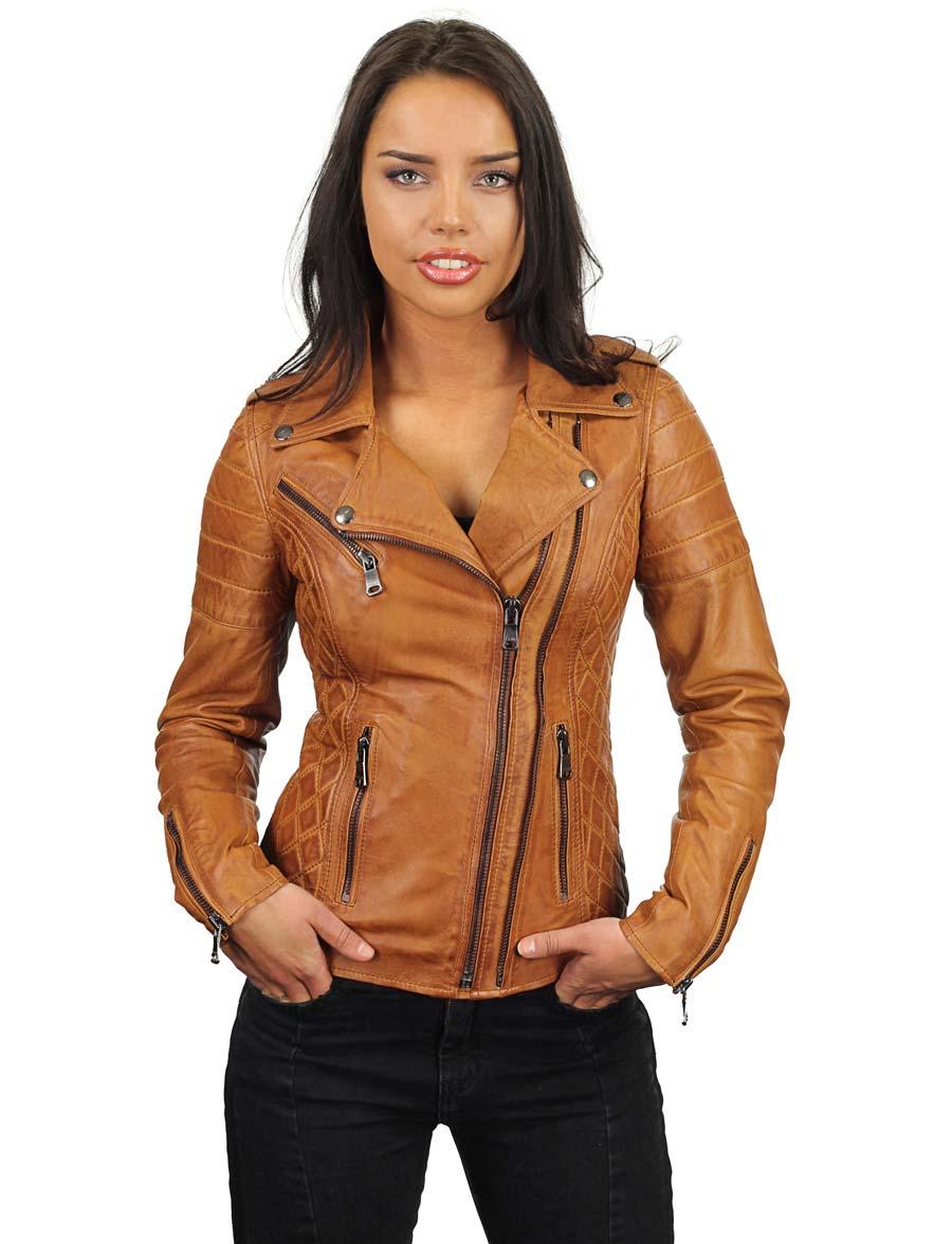 leren-bikerjack-dames-cognac-dubbele-rits-versano-342-model