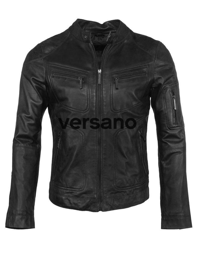 Leren heren jasje zwart van Versano