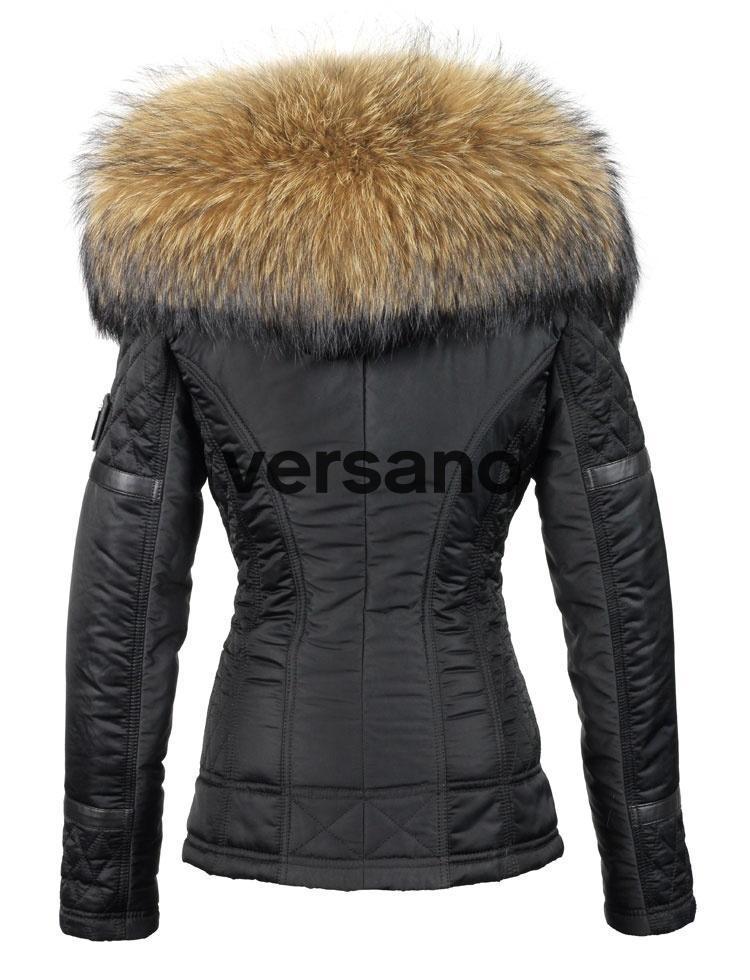 finest selection 49a5c 447f7 Jas met bontkraag dames zwart van Versano
