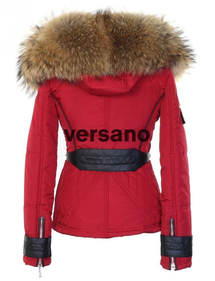 Rode Heren Winterjas.Rode Dames Jas Met Bontkraag Van Versano Rode Jas Met Pels