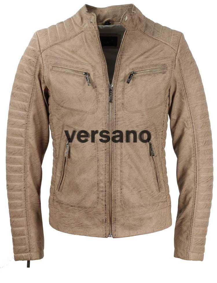 a537cc7c2a5 casa tienda Chaquetas de cuero de imitación Imitación chaquetas de cuero de los  hombres