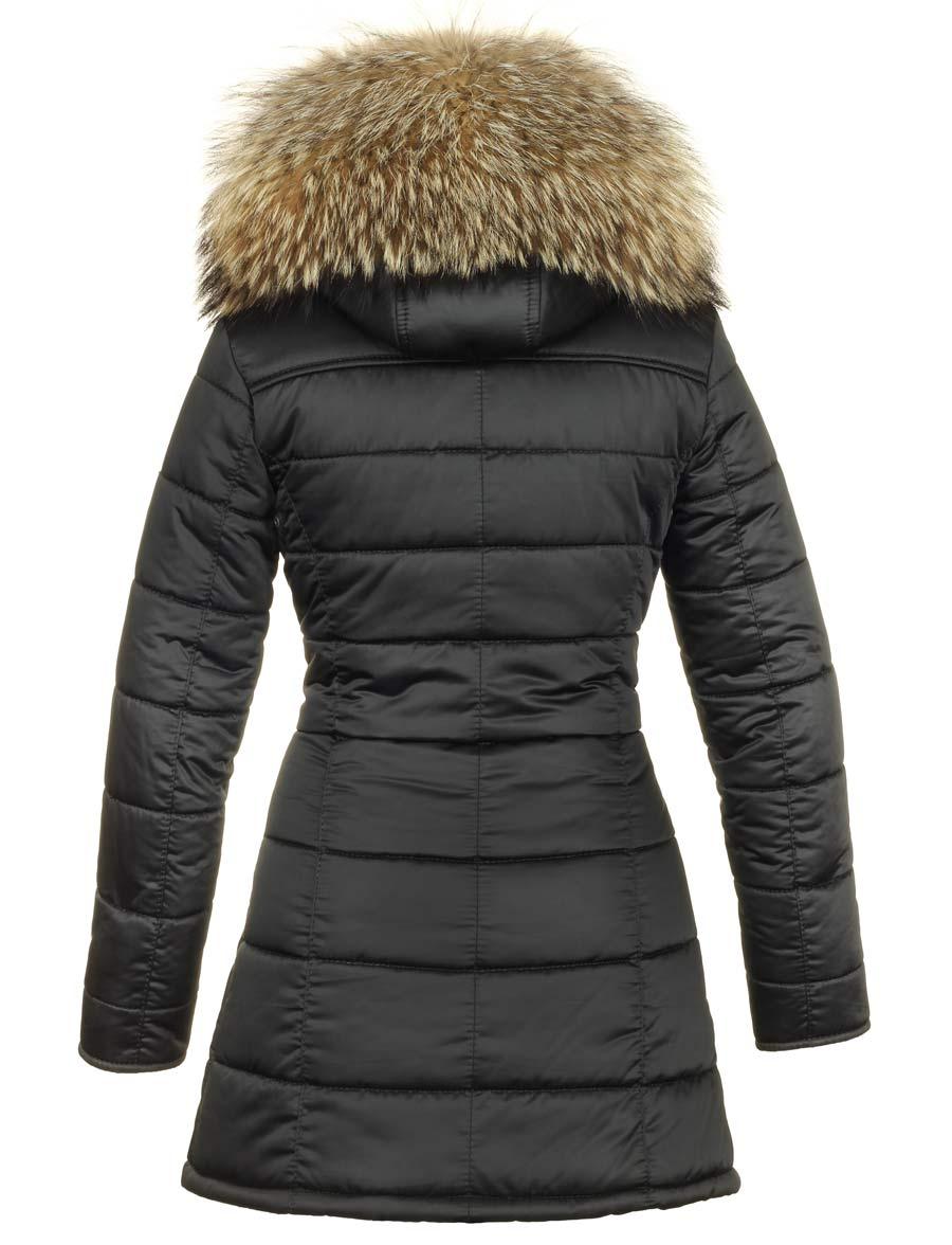 zwarte winter jas