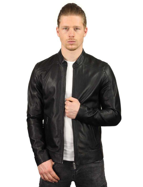 veste en cuir-hommes-noir-TR36S-versano-avant