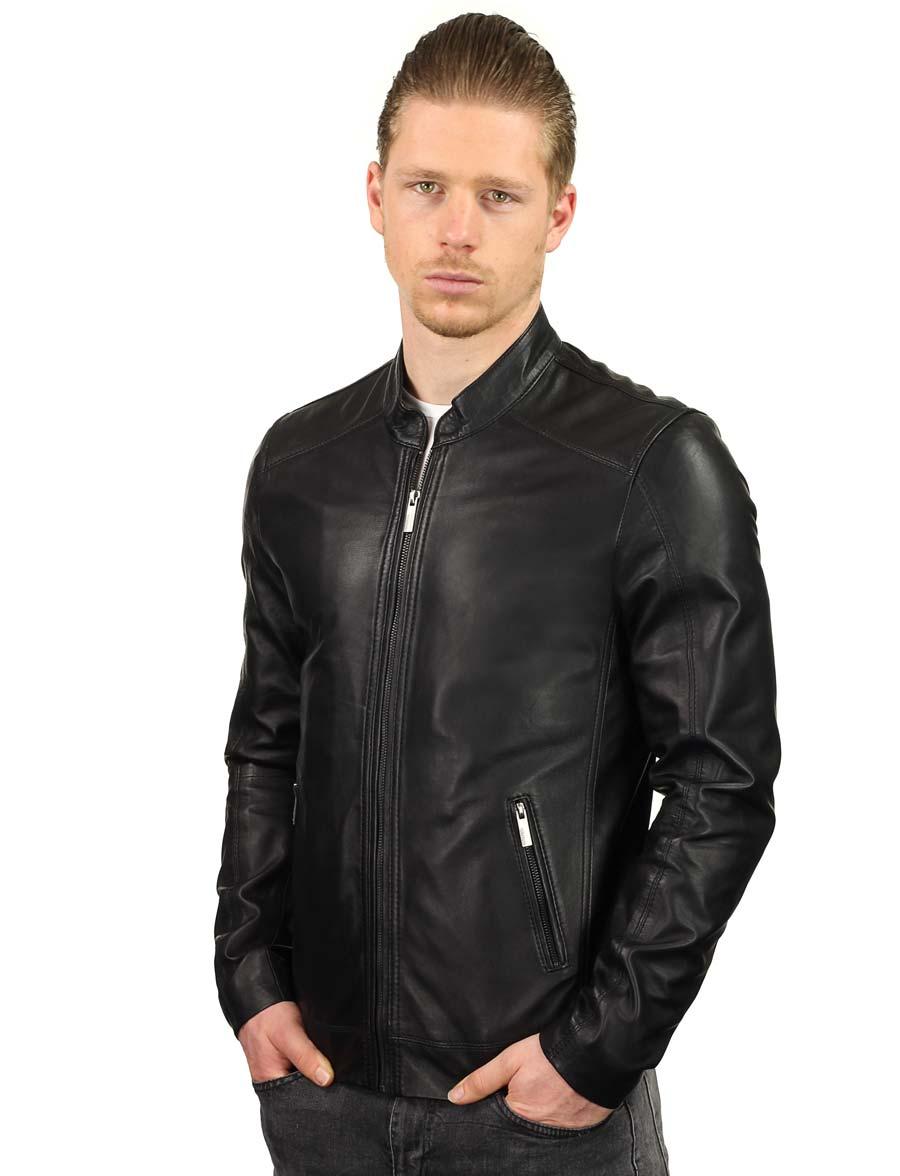 4cbd0f5b237 veste en cuir-hommes-noir-TR36S-versano-front-model2