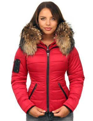 winterjas-met-bontkraag-rood-versano-shamila-model1