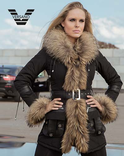 long-ladies-coats-with-fur collar-versano