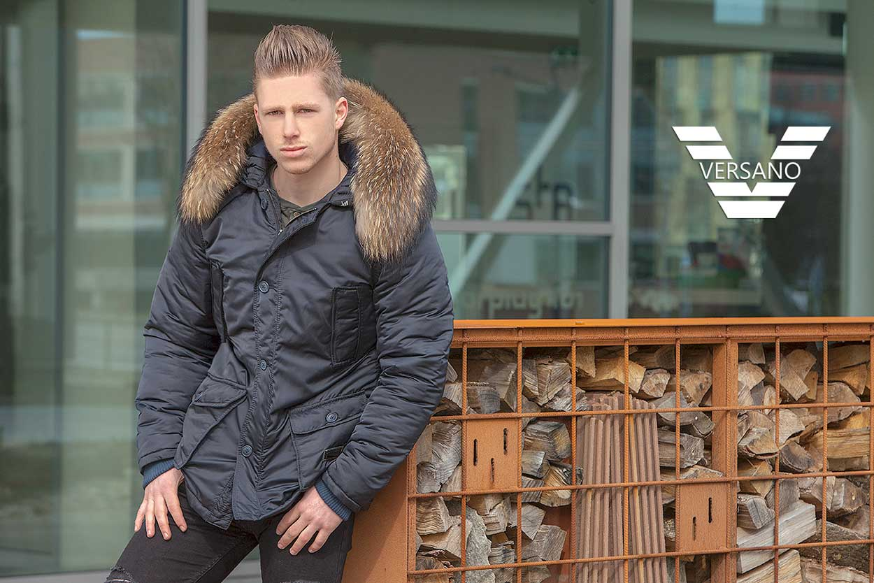 parka-men-winter jacket-with-fur collar-versano-hogun-blue