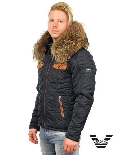 Winterjas Heren Stoer.Stoere Heren Winterjassen Met Bontkraag Versano Versano