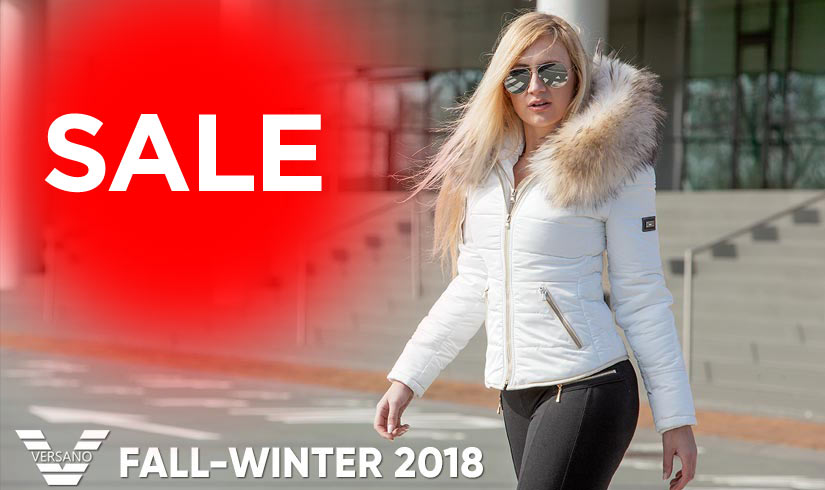 white-ladies-winter coat-sale-with-fur collar-versano