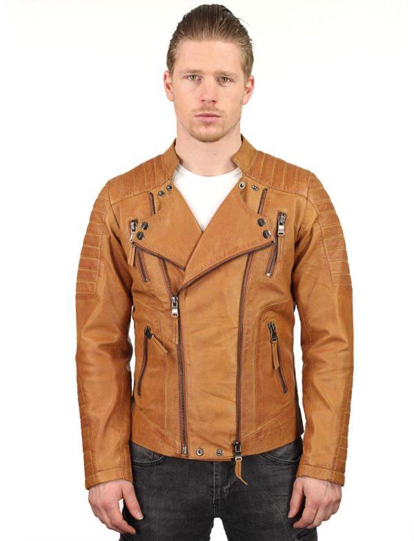 heren-biker-jack-cognac--dubbele-ritsen-versano-tr60-model3