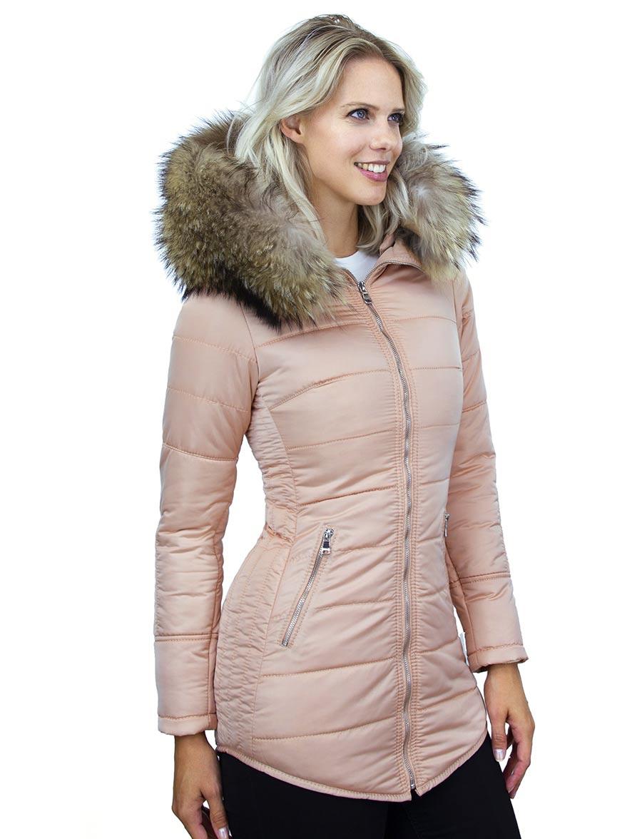 ladies-winter-coat-salmon-pink-medium-length-model-silver-zipper-versano