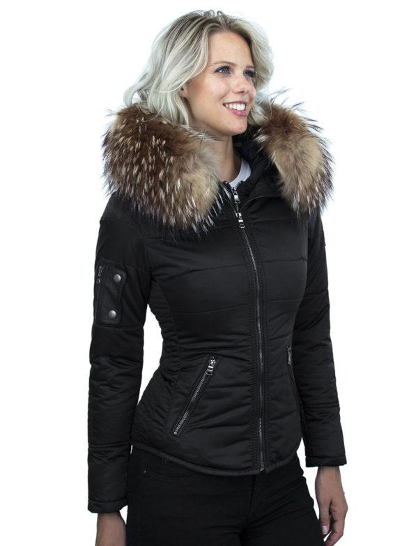versano-dames-winterjas-met-bontkraag-Shamila-zwart