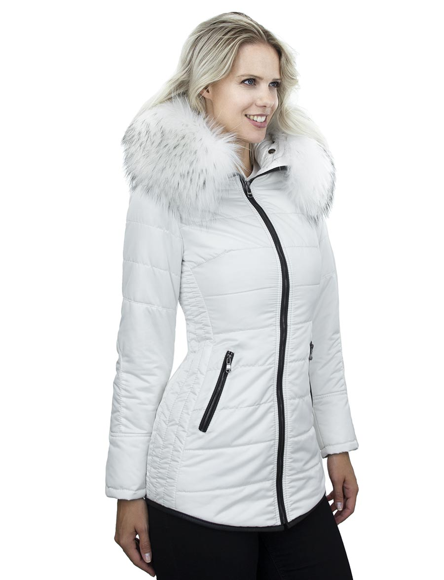 witte-dames-winterjas-halflang-bontkraag-zwarte-rits-versano