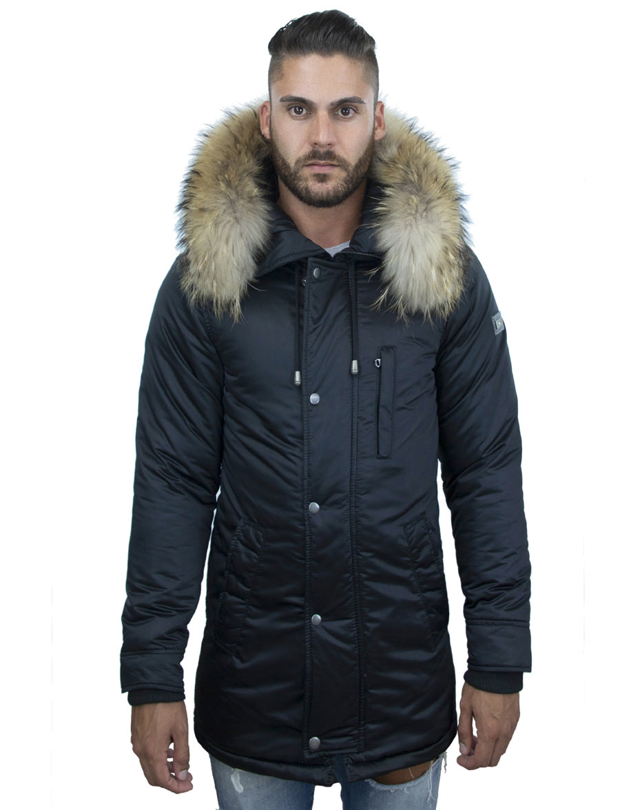 heren winterjas parka Thompson blauw Versano
