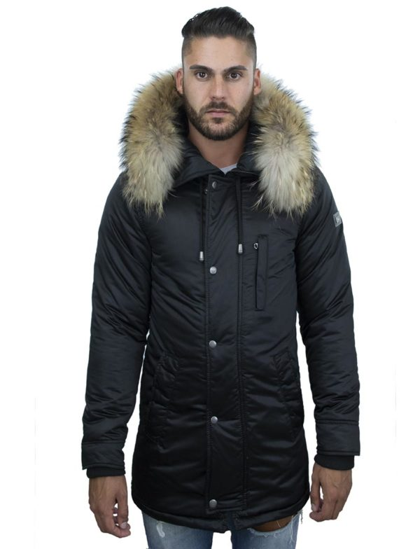 winterjas parka heren Thompson N zwart Versano