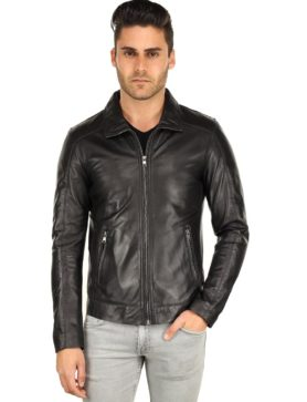 heren leren jas zwart TR53 Versano