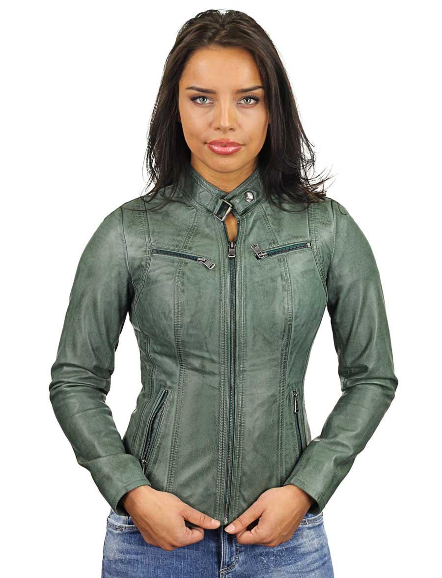 leren-dames-jas-groen-ronde-kraag-315-model4
