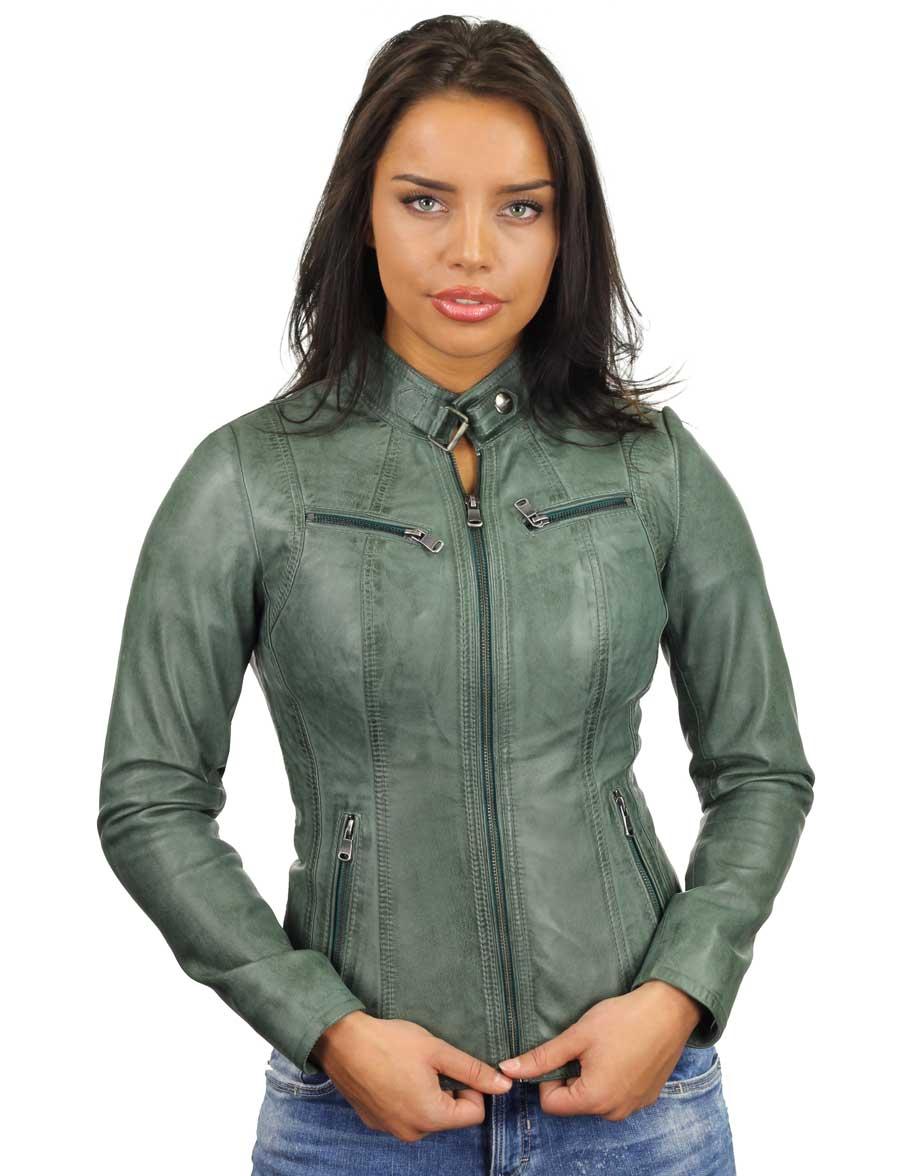 leren-dames-jas-groen-ronde-kraag-315-model5