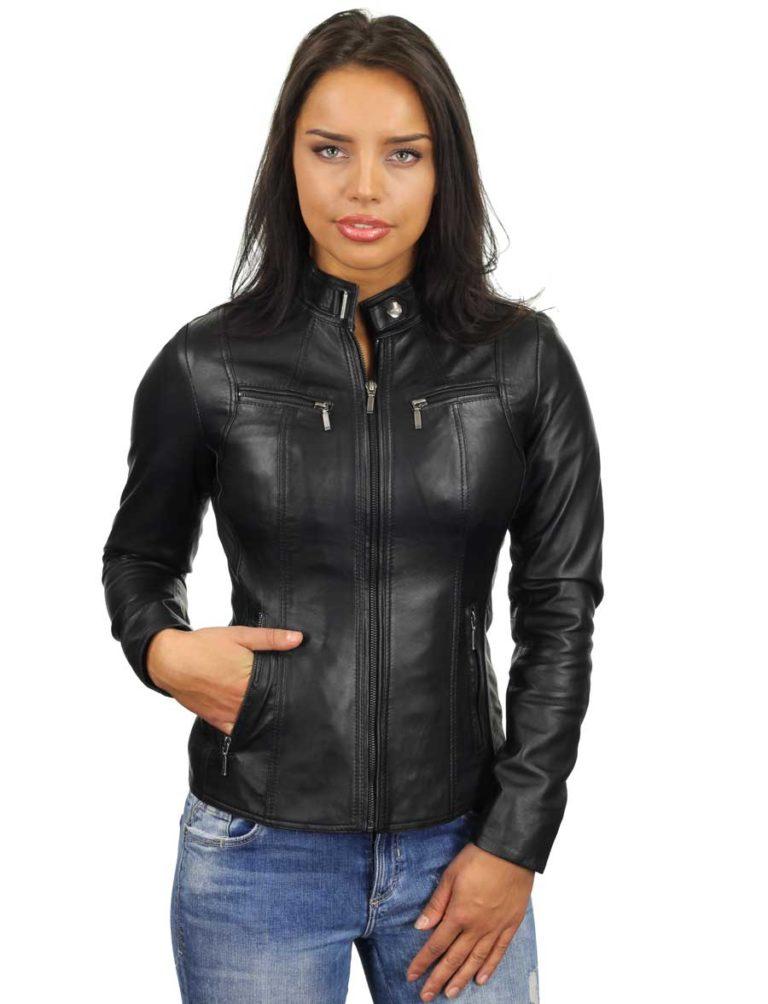 leren-dames-jassen-zwart-ronde-kraag-315-model4