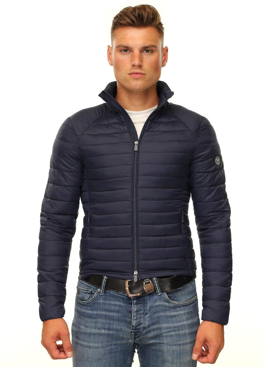 Gewatteerde jas heren blauw Peter Versano