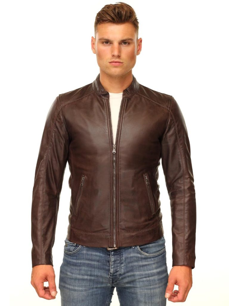 Leren heren jas basic bruin TR36 S Versano