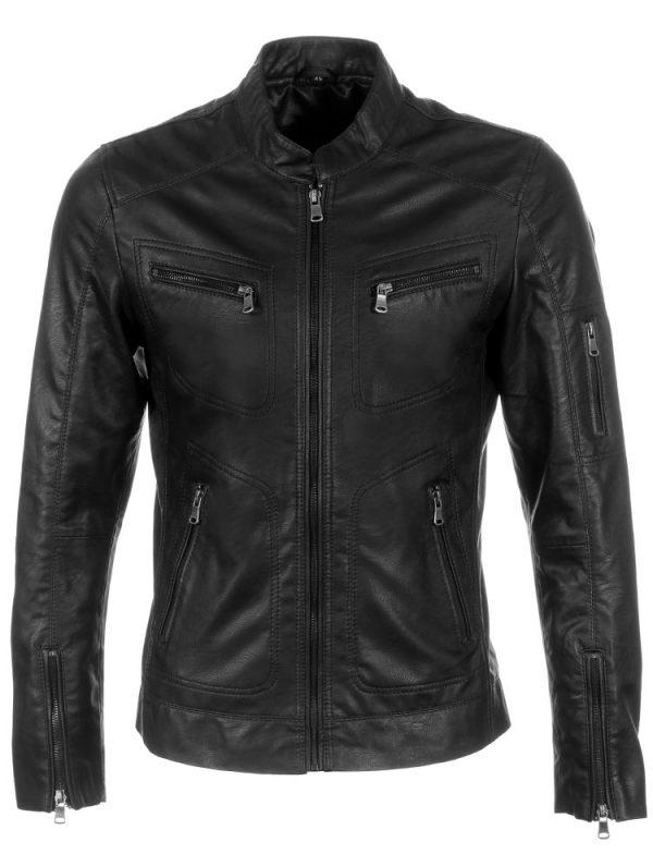heren-leatherlook-jas-zwart-versano-trr36-voorkant