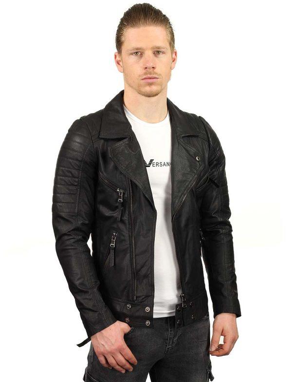 leren-bikerjack-heren-zwart-versano