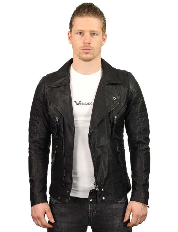 leren-bikerjack-heren-zwart-versano-tr50-model