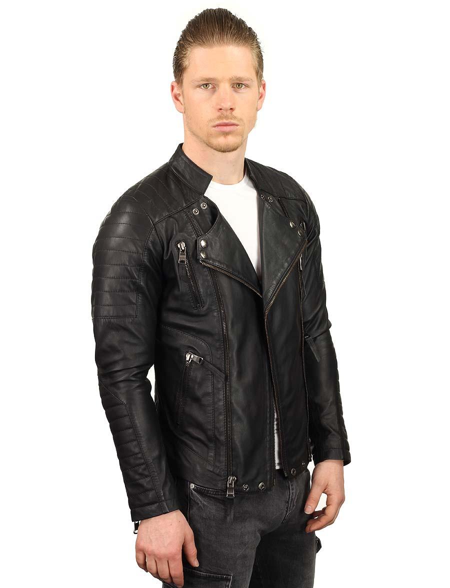 zwarte-leren-heren-bikerjack-versano-tr60-model